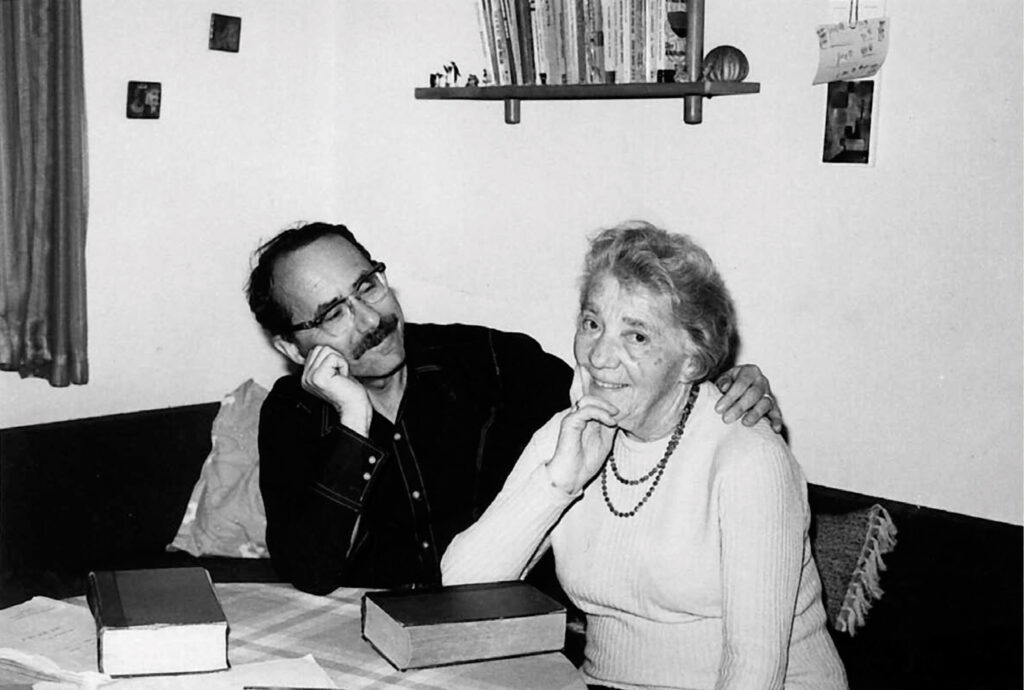 Henry Gruen with Else Braun in Ma'ayan Zwi (Israel), 1970s