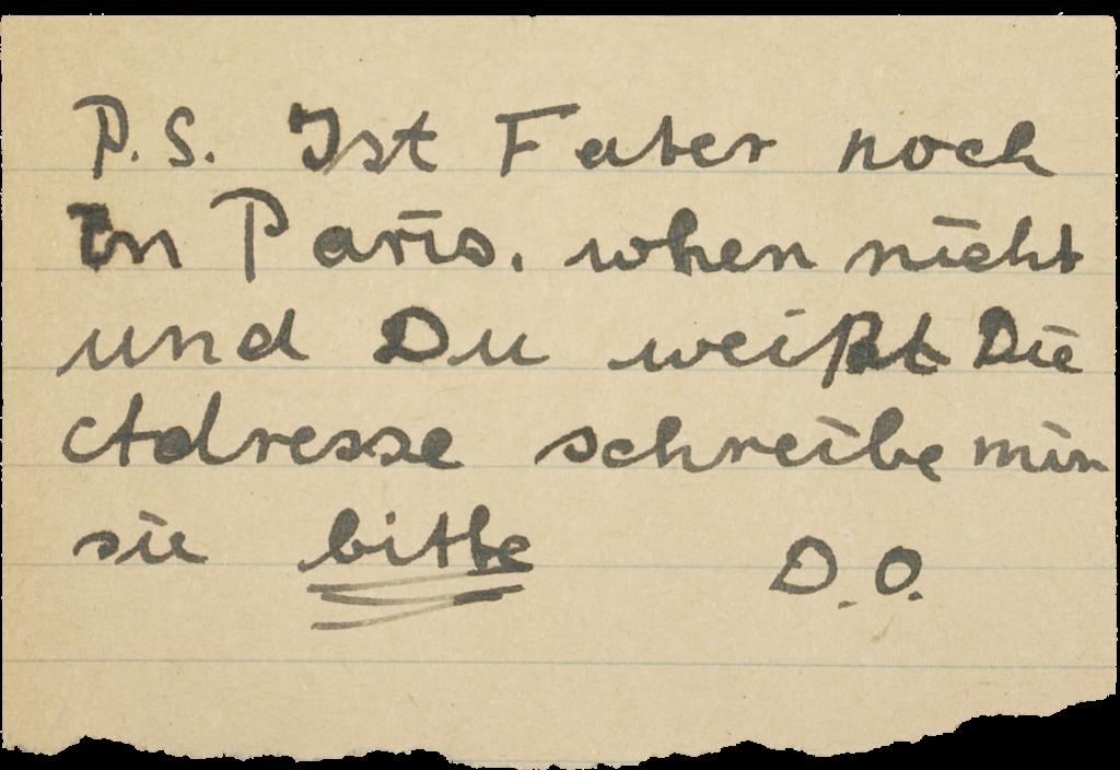 Brief von Josef 1949