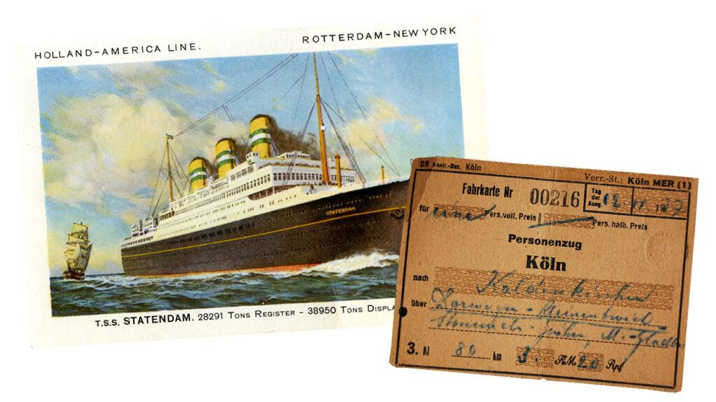 Postkarte und Fahrkarte